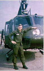 Photo of Dale Throneberry during Vietnam War