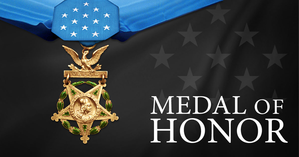 """The Medal of Honor Recipients """"Chuck"""" Kettles and James McCloughan"""