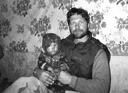 John Chapman MOH with Afghan child